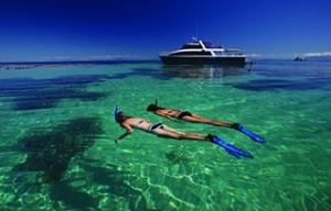Girls snorkelling